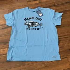 Life is good game day crusher tee